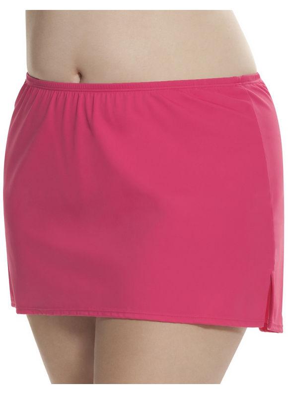 Lane Bryant Plus Size Side slit swim skirt Size 18, purple