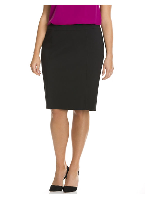 Lane Bryant Plus Size Sexy Stretch pencil skirt Size 20, black
