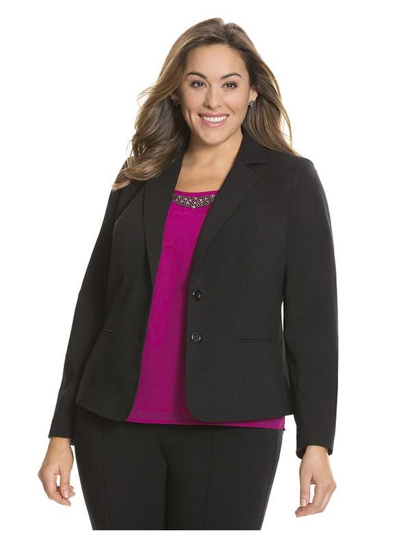 Lane Bryant Plus Size Sexy Stretch jacket Size 18, black