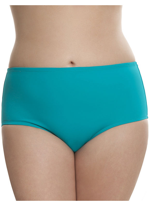 Lane Bryant Plus Size Swim brief by Sophie Theallet Size 28, Aqua Paradise - Lane Bryant ~ Trendy Plus Size Clothes