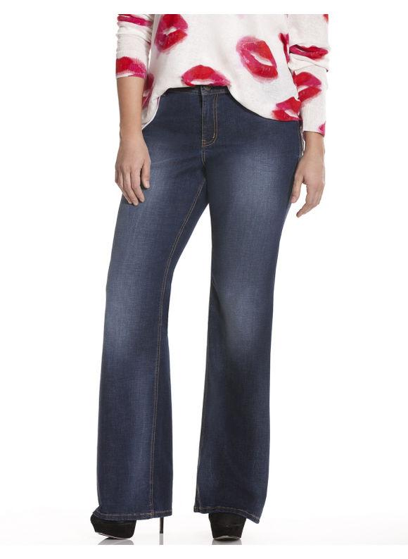 Lane Bryant Plus Size Genius Fit™ flare leg jean Size 20, blue