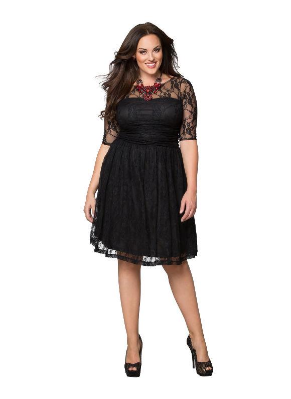 Plus Size Luna lace dress by Kiyonna Lane Bryant Women's Size 0X, black - Lane Bryant ~ Trendy Plus Size Clothes