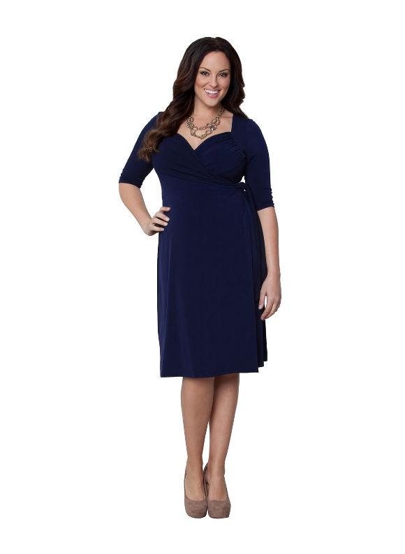 Plus Size Sweetheart wrap dress by Kiyonna Lane Bryant Women's Size 1X, blue - Lane Bryant ~ Trendy Plus Size Clothes