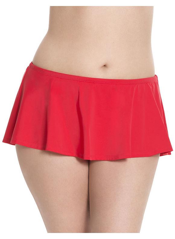 Lane Bryant Plus Size 6th & Lane swim skirt Size 26,28, red - Lane Bryant ~ Trendy Plus Size Clothes