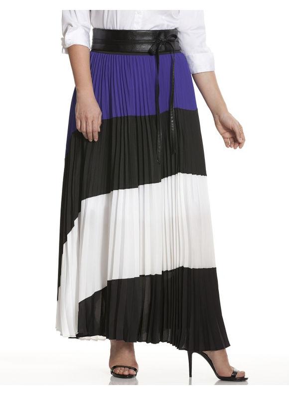 Lane Bryant Plus Size Colorblock maxi skirt Size 18/20, black - Lane Bryant ~ Trendy Plus Size Clothes