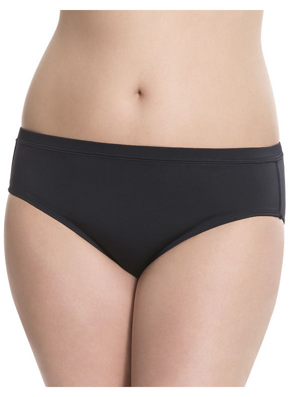 Lane Bryant Plus Size 6th & Lane swim briefster Size 28, black - Lane Bryant ~ Trendy Plus Size Clothes