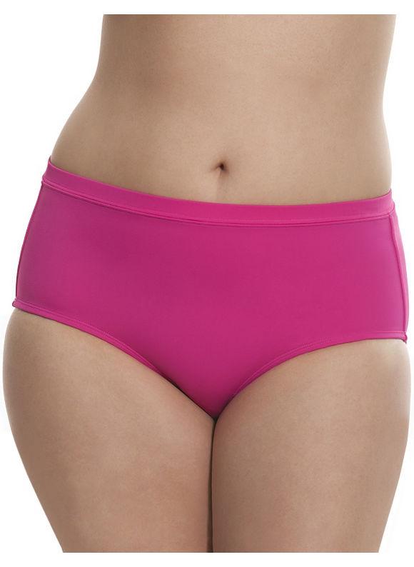 Lane Bryant Plus Size 6th & Lane swim briefster Size 28, Bold Fuchsia - Lane Bryant ~ Trendy Plus Size Clothes