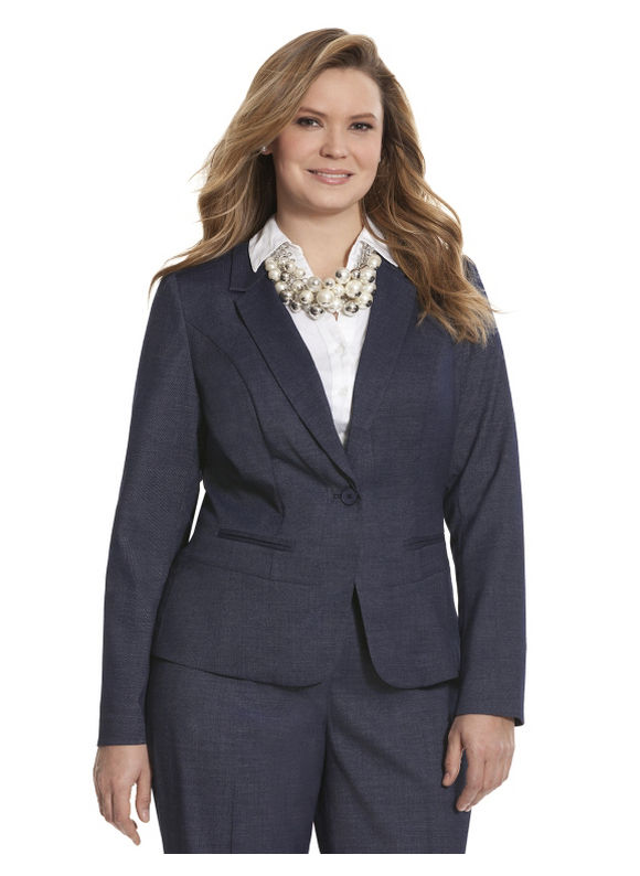 Lane Bryant Plus Size Refined denim jacket, blue
