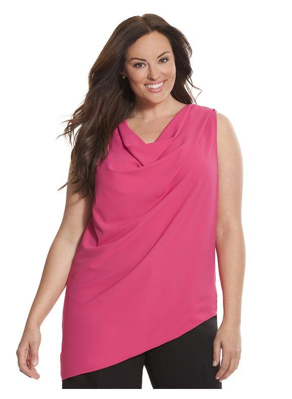 Lane Bryant Plus Size 6th & Lane draped shell Size 12, pink