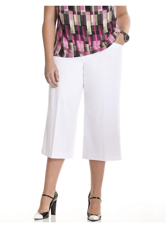 Lane Bryant Plus Size 6th & Lane culotte Size 12, white - Lane Bryant ~ Trendy Plus Size Clothes