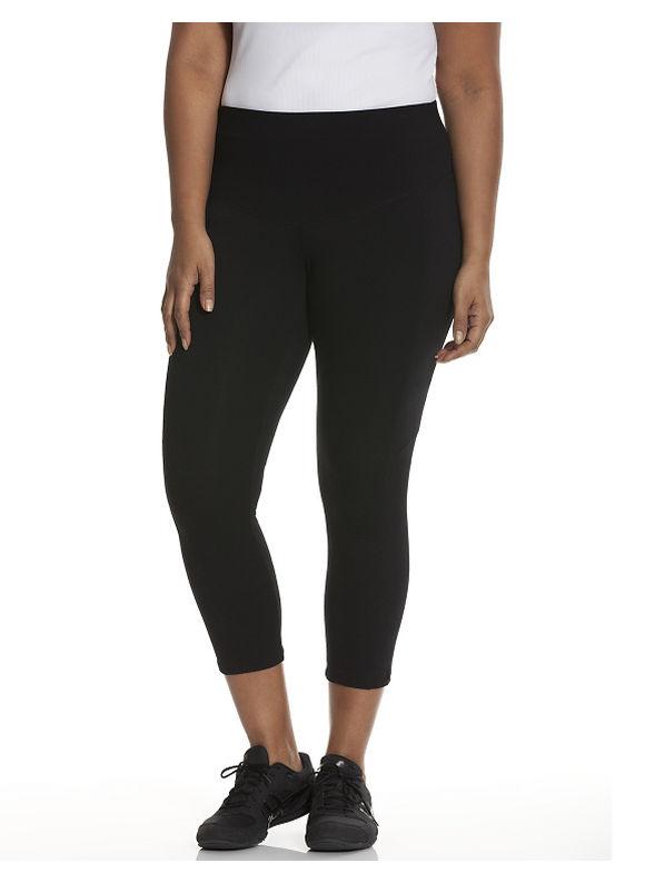 Lane Bryant Plus Size Control Tech Smoothing active capri legging Size 14/16, black