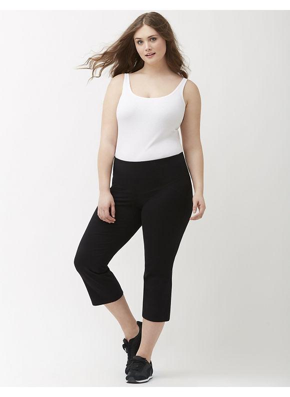 Lane Bryant Plus Size Control Tech yoga capri Size 14/16, black - Lane Bryant ~ Trendy Plus Size Clothes