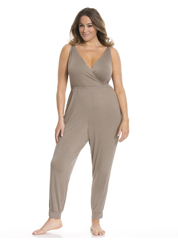 Lane Bryant Plus Size Tru to You lace back jumpsuit Size 18/20, Brindle - Lane Bryant ~ Trendy Plus Size Clothes