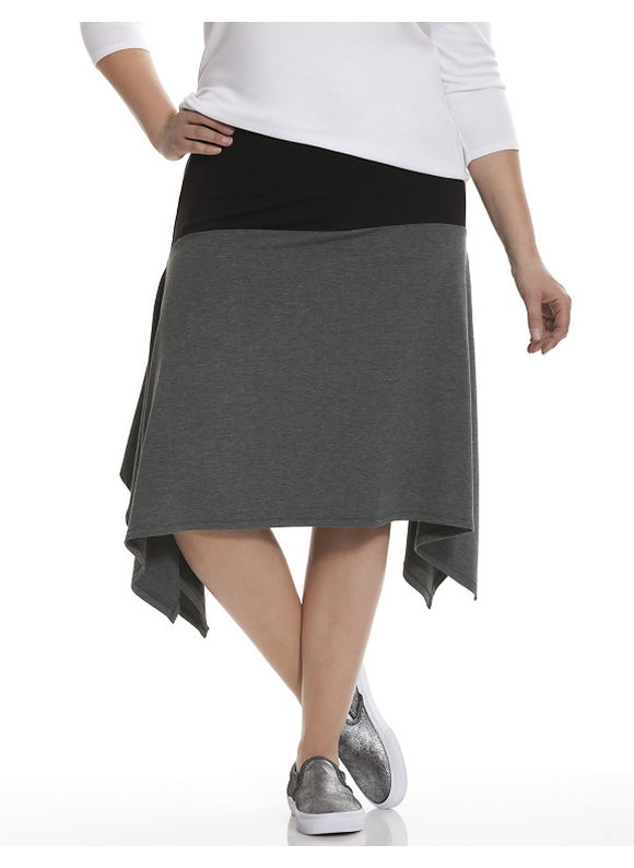 Lane Bryant Plus Size 6th & Lane colorblock skirt Size 22, gray - Lane Bryant ~ Trendy Plus Size Clothes