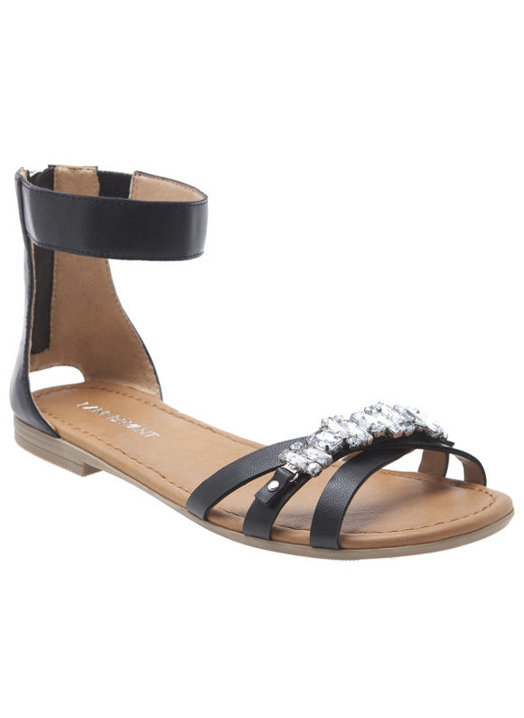 Lane Bryant Wide Calf Embellished ankle strap sandal Size 10 W, black - Lane Bryant ~ Trendy Plus Size Clothes