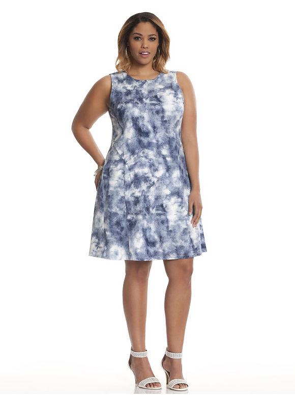 Plus Size Margot printed dress by Lysse Lane Bryant Women's Size 1X, blue - Lane Bryant ~ Trendy Plus Size Clothes