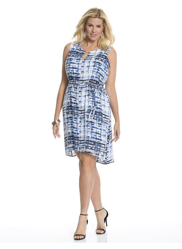 Plus Size Vista dress by Lysse Lane Bryant Women's Size 1X, blue