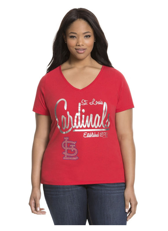 Lane Bryant Plus Size St. Louis Cardinals tee Size 14/16, red