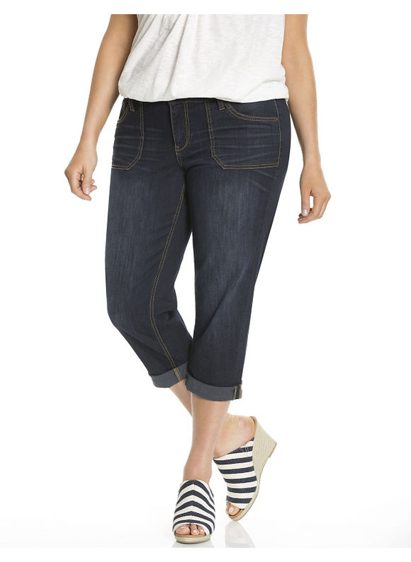 Lane Bryant Plus Size Weekend Jean capri Size 14, blue - Lane Bryant ~ Trendy Plus Size Clothes