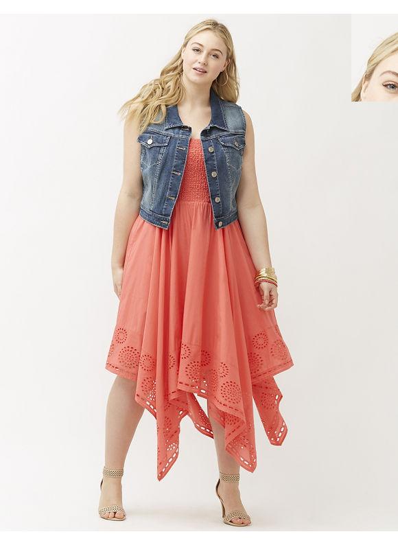 Lane Bryant Plus Size Denim vest Size 20, blue - Lane Bryant ~ Trendy Plus Size Clothes