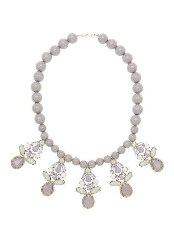 Lane Bryant Women's Bead & stone statement necklace - Lane Bryant ~ Trendy Plus Size Clothes
