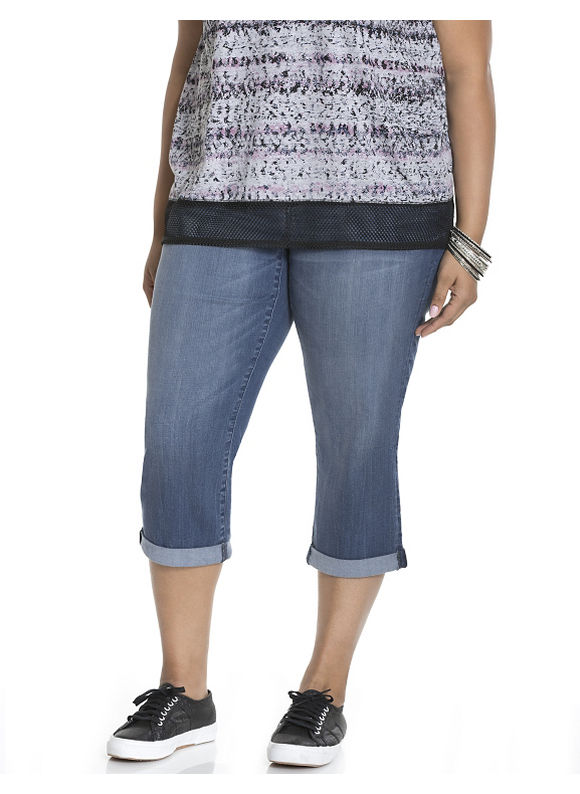Lane Bryant Plus Size Soho skinny capri by Dkny Jeans Size 14W, denim blue - Lane Bryant ~ Trendy Plus Size Clothes