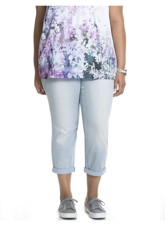 Lane Bryant Plus Size Sculpted capri legging by Dkny Jeans Size 16W, blue - Lane Bryant ~ Trendy Plus Size Clothes