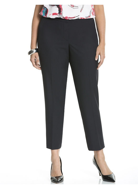 Lane Bryant Plus Size Straight leg ankle pant by Dknyc Size 14W, black - Lane Bryant ~ Trendy Plus Size Clothes