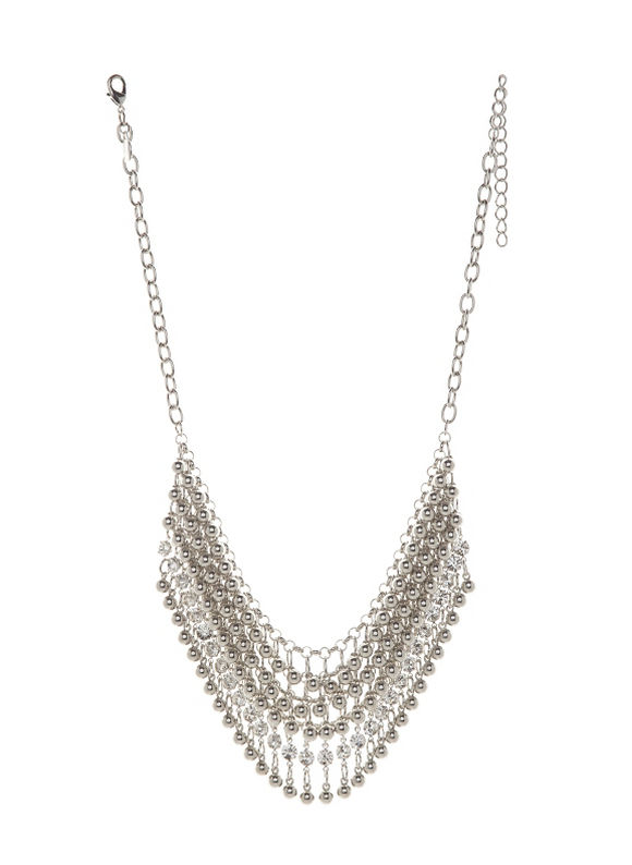 Lane Bryant Women's Bead & rhinestone bib necklace - Lane Bryant ~ Trendy Plus Size Clothes