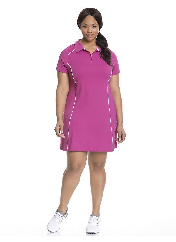 Plus Size Cooling polo tennis dress Lane Bryant Women's, Island Berry