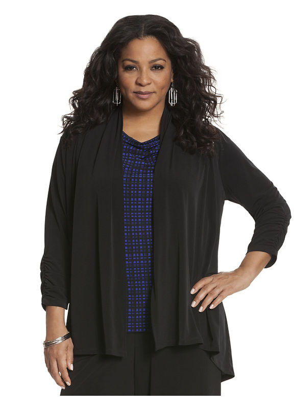 Lane Bryant Plus Size Simply Chic matte Jersey jacket Size 22/24, black