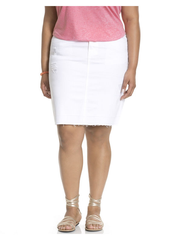 Lane Bryant Plus Size denim skirt Size 14, 20,  white plus size,  plus size fashion plus size appare