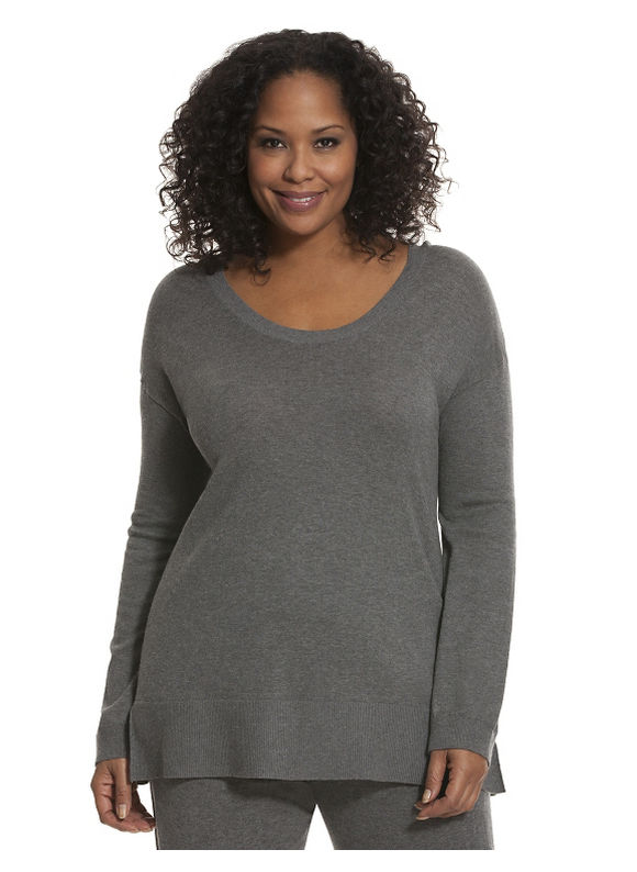 Lane Bryant Plus Size Luxury soft cowl back pullover Size 22/24, gray
