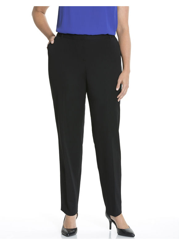 Lena Smart Stretch slim leg pant Plus Size/Black by Lane Bryant