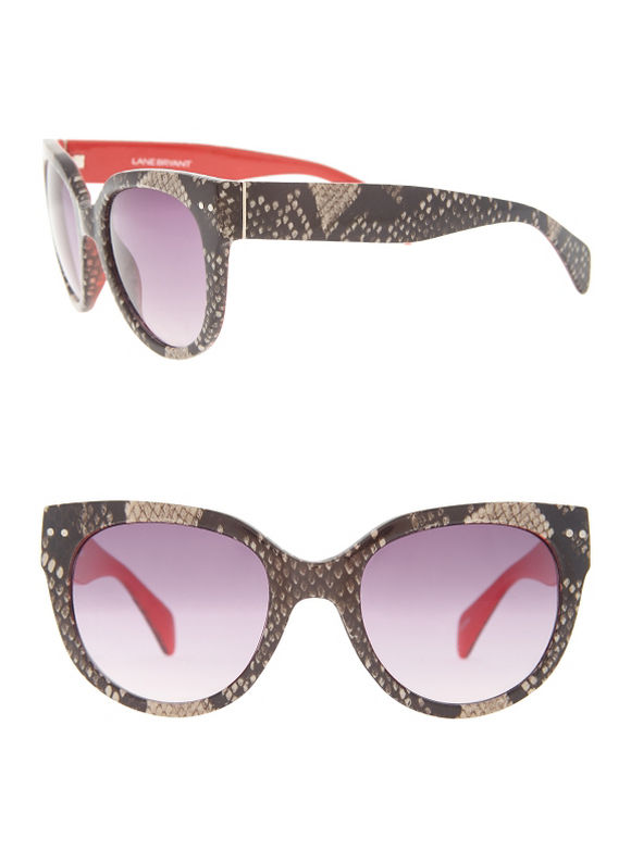 Lane Bryant Women's Snake sunglasses with color pop trim