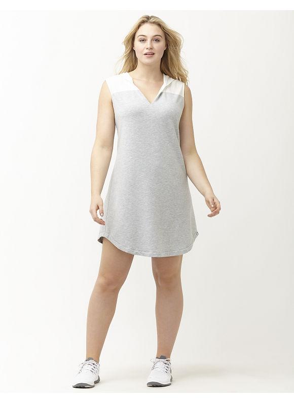 Plus Size Mixed media hooded dress Lane Bryant Women's Size 14/16, gray - Lane Bryant ~ Trendy Plus Size Clothes