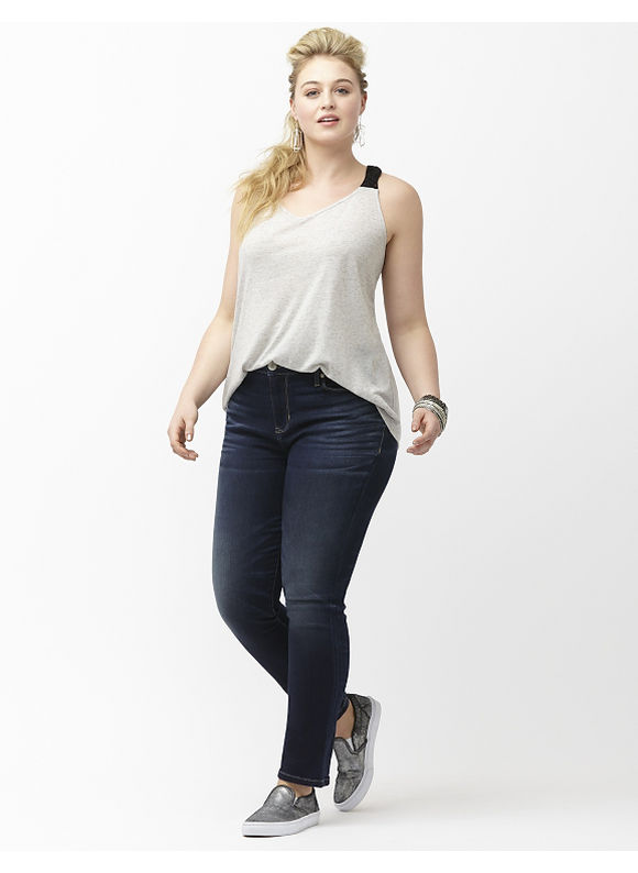 Lane Bryant Plus Size 6th & Lane denim crop Size 18, denim blue - Lane Bryant ~ Trendy Plus Size Clothes