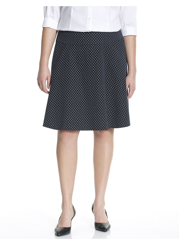 Lane Bryant Plus Size Printed skater skirt Size 22, black