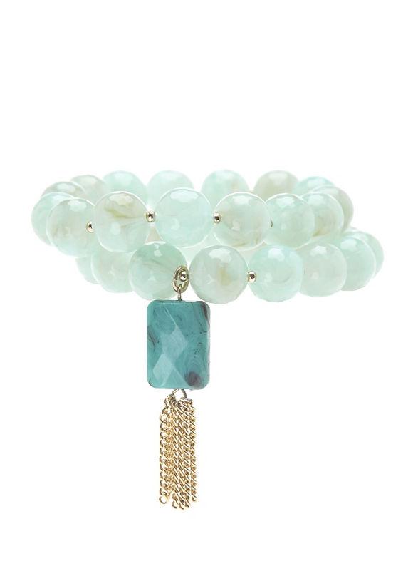 Lane Bryant Women's 2 row bead bracelet - Lane Bryant ~ Trendy Plus Size Clothes