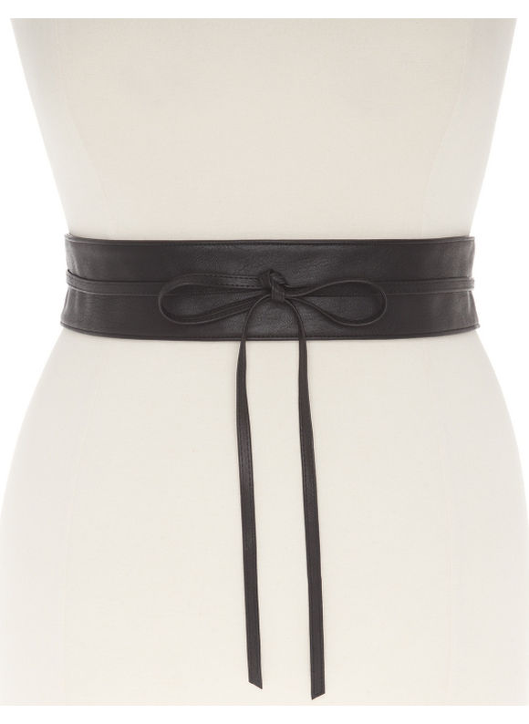 Lane Bryant Plus Size Smooth obi belt, black