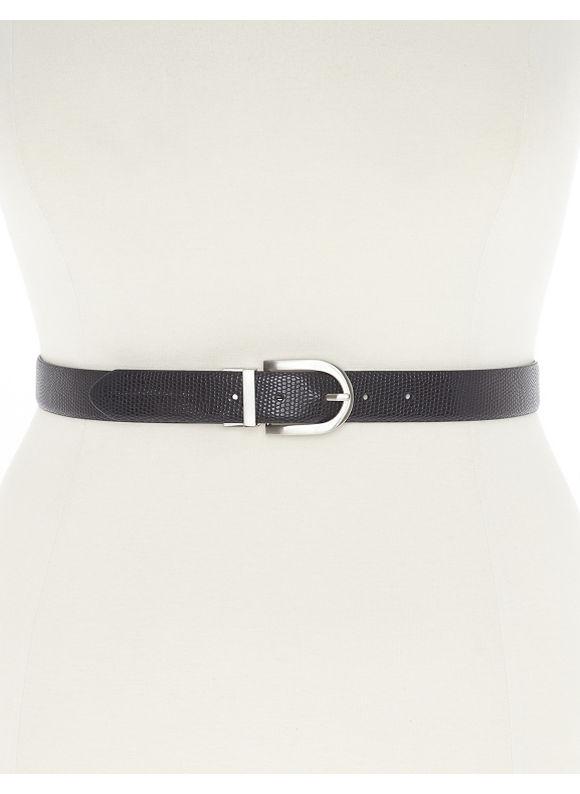 Lane Bryant Plus Size Reversible belt, black