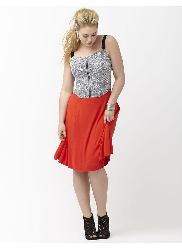 Lane Bryant Plus Size 6th & Lane cropped bustier top Size 26,28, black - Lane Bryant ~ Trendy Plus Size Clothes