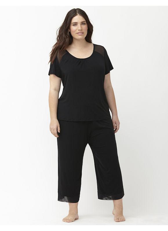 Lane Bryant Plus Size Cooling sleep tee Size 18/20, black