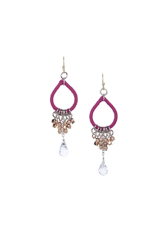 Lane Bryant Women's Thread wrapped teardrop earrings