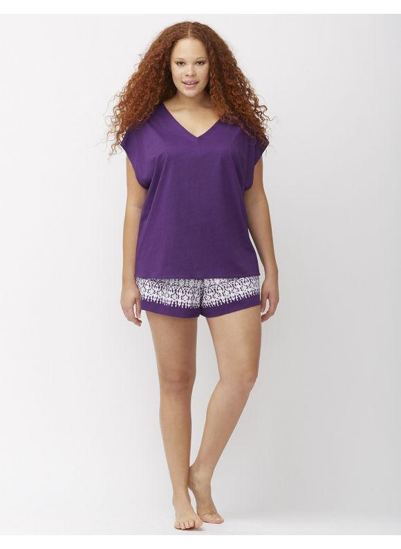 Lane Bryant Plus Size Dolman sleep tee Size 22/24, acai - Lane Bryant ~ Trendy Plus Size Clothes