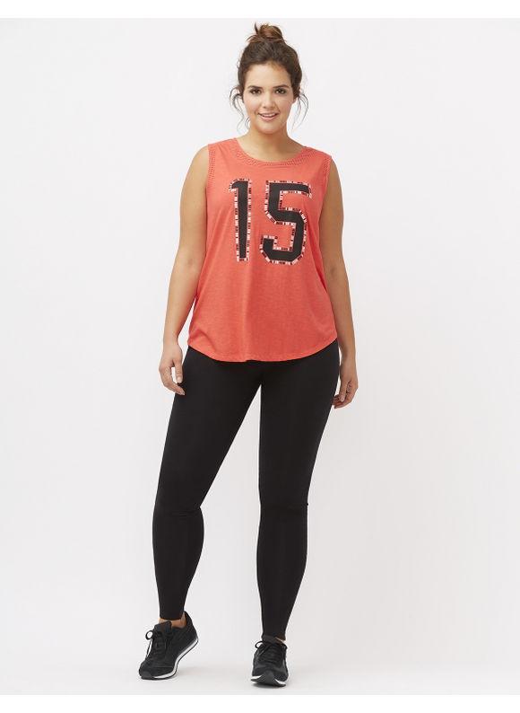 Lane Bryant Plus Size Embellished number graphic tank Size 14/16, red - Lane Bryant ~ Trendy Plus Size Clothes