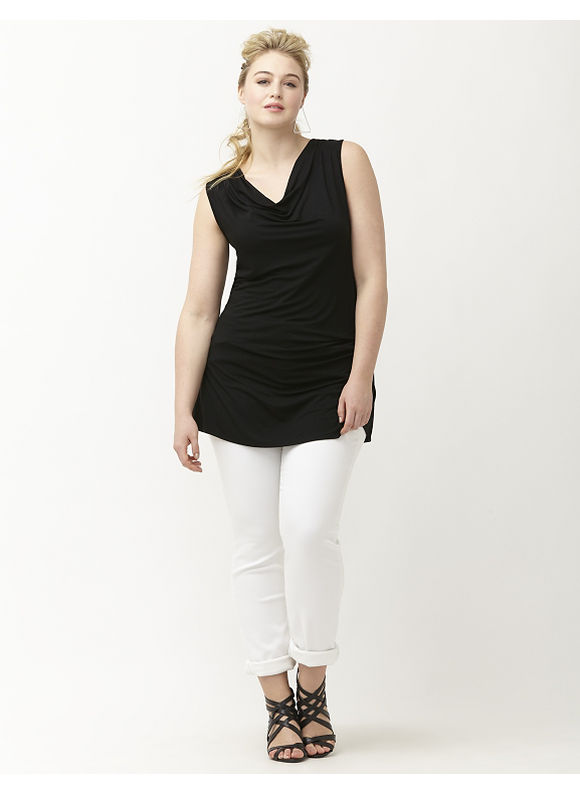 Lane Bryant Plus Size 6th & Lane low back tank Size 26, black - Lane Bryant ~ Trendy Plus Size Clothes