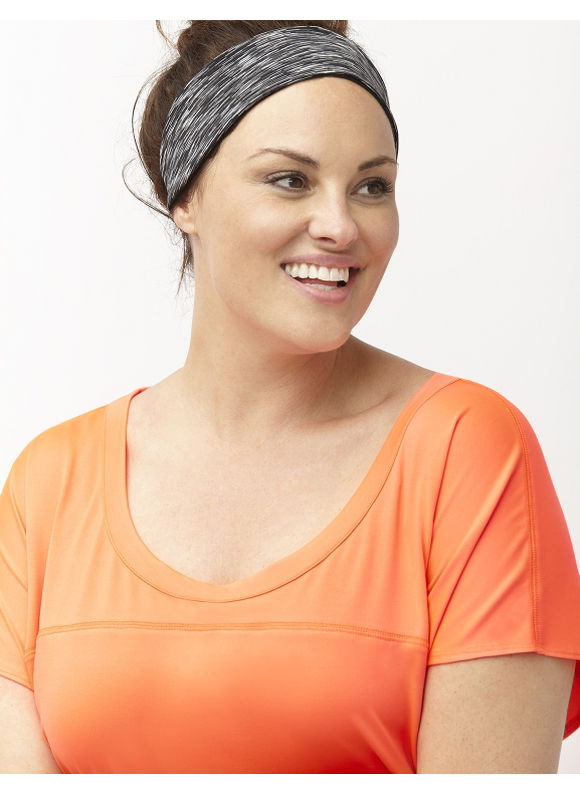 Lane Bryant Plus Size Space dye wicking headband Size One Size, black - Lane Bryant ~ Trendy Plus Size Clothes