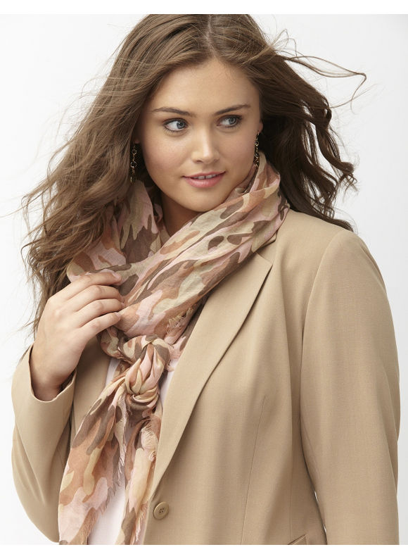 Lane Bryant Plus Size Camo oblong scarf Size One Size, rose - Lane Bryant ~ Trendy Plus Size Clothes