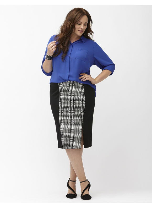 Fall Fashion Trend, The Midi Pencil Skirt #PlusSize #Fashion
